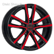 7 x 17 ET42 d76 PCD5*112 MAK Milano Black and Red - +центровочные кольца